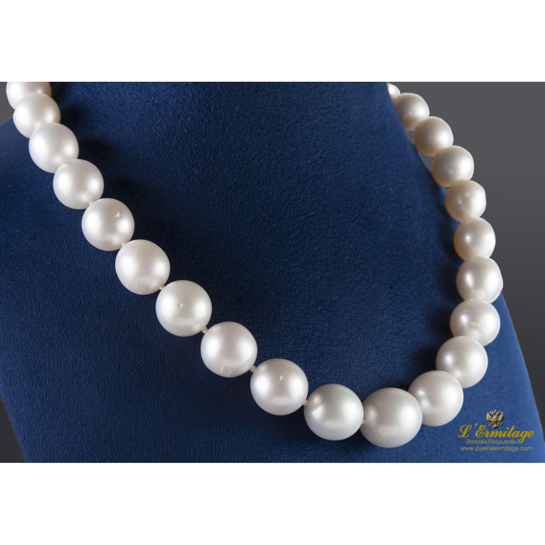 Collares Collar Perlas Australianas Degrad 201 45 Cm Largo