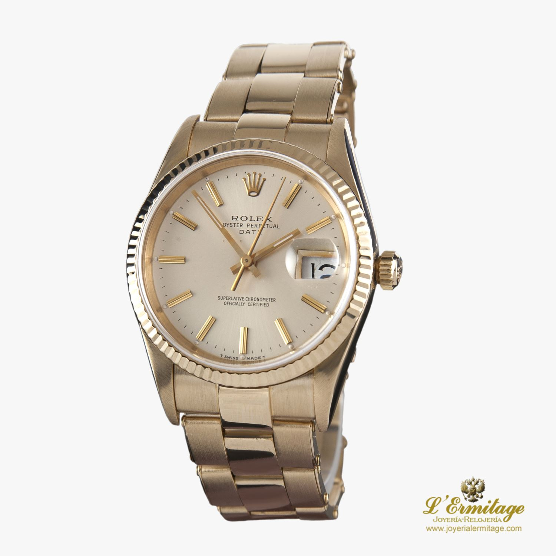Oyster Caballeroimom· Amarillo Perpetual Date Rolex Joyeria Oro v0wNny8Om