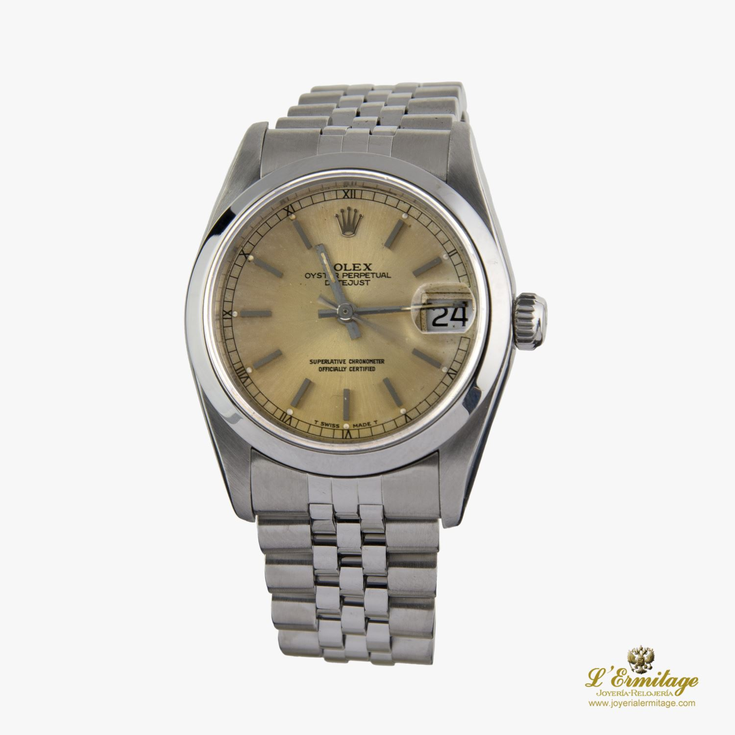 DATE JUST 31MM ACERO JUBILLE.